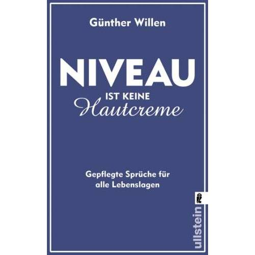 Günther Willen - Niveau ist keine Hautcreme - Preis vom 11.04.2021 04:47:53 h