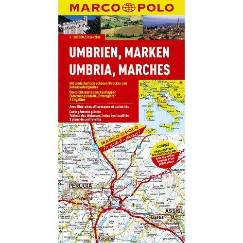 - MARCO POLO Karte Umbrien, Marken 1:200.000 - Preis vom 26.02.2021 06:01:53 h