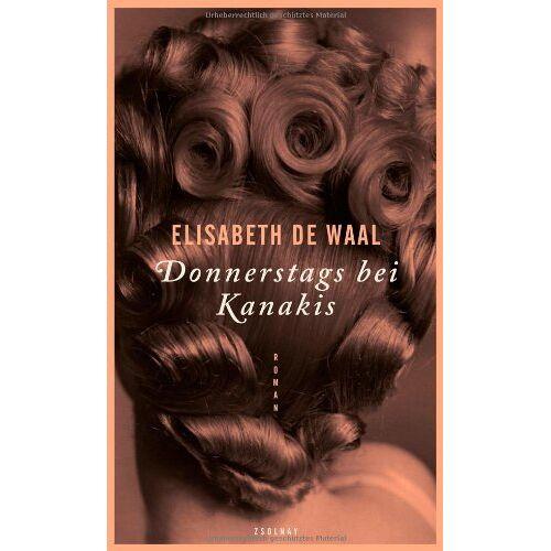 Elisabeth De Waal - Donnerstags bei Kanakis: Roman - Preis vom 16.04.2021 04:54:32 h