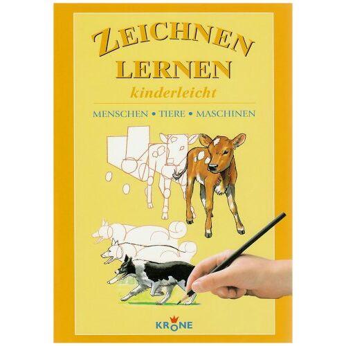 Dieter Krone - Zeichnen lernen kinderleicht. Menschen, Tiere, Maschinen - Preis vom 13.07.2020 05:03:33 h