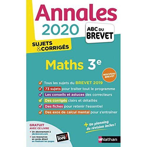 - Mathématiques 3e : Sujets & corrigés - Preis vom 27.02.2021 06:04:24 h