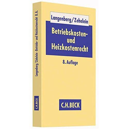 Hans Langenberg - Betriebskosten- und Heizkostenrecht - Preis vom 11.04.2021 04:47:53 h