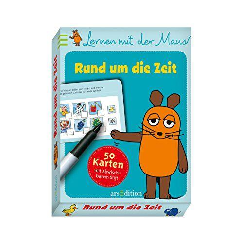 - Lernen mit der Maus - Rund um die Zeit: 50 Karten mit abwischbarem Stift - Preis vom 13.05.2021 04:51:36 h