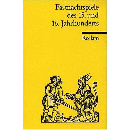 Dieter Wuttke - Fastnachtspiele des 15. und 16. Jahrhunderts - Preis vom 28.02.2021 06:03:40 h