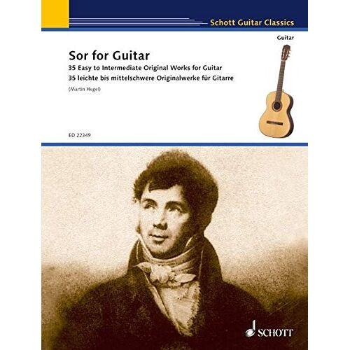 Martin Hegel - Sor for Guitar: 35 leichte bis mittelschwere Originalstücke für Gitarre. Gitarre. (Schott Guitar Classics) - Preis vom 25.02.2020 06:03:23 h