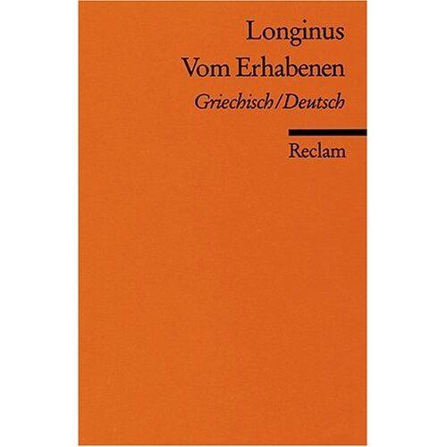 Longinus - Vom Erhabenen: Griech. /Dt - Preis vom 21.01.2021 06:07:38 h