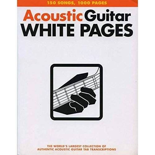 - Acoustic Guitar Tab White Pages: Songbook für Gitarre - Preis vom 18.04.2021 04:52:10 h