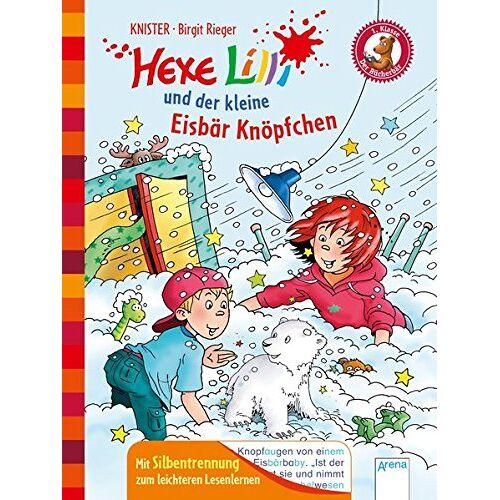 Knister - Hexe Lilli und der kleine Eisbär Knöpfchen: Der Bücherbär. Hexe Lilli für Erstleser. Mit Silbentrennung zum leichteren Lesenlernen: - Preis vom 18.04.2021 04:52:10 h