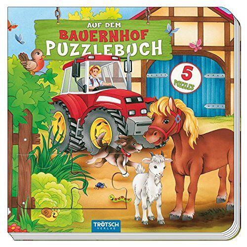 Trötsch Verlag - Puzzlebuch Auf dem Bauernhof: Mit fünf 9-teiligen Puzzles! - Preis vom 07.05.2021 04:52:30 h