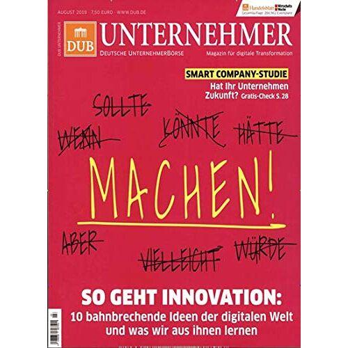 DUB Unternehmer Magazin - DUB Unternehmer Magazin 3/2019 Revolution - Preis vom 16.05.2021 04:43:40 h
