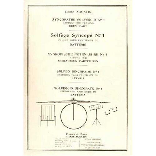 Agostini Dante - Agostini solfege Syncopé Vol.1 - Preis vom 23.10.2020 04:53:05 h