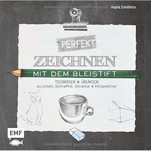 Angela Schultheiss - Perfekt zeichnen mit dem Bleistift: Techniken & Übungen zu Linien, Schraffur, Struktur & Perspektive - Preis vom 05.05.2021 04:54:13 h
