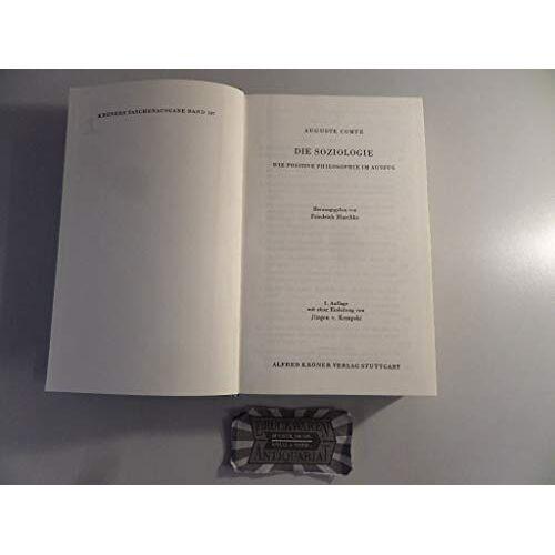 Auguste Comte - Die Soziologie - Preis vom 06.05.2021 04:54:26 h