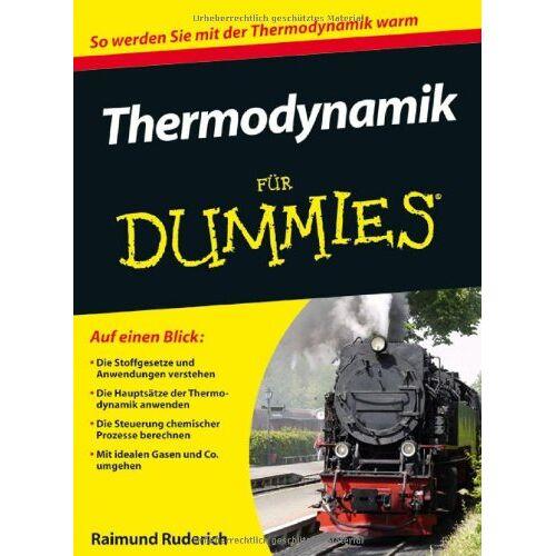 Raimund Ruderich - Thermodynamik für Dummies (Fur Dummies) - Preis vom 12.05.2021 04:50:50 h