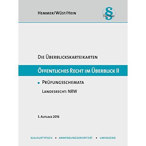 Hemmer, Karl E. - Öffentliches Recht im Überblick II - Landesrecht NRW (Karteikarten - Öffentliches Recht) - Preis vom 17.04.2021 04:51:59 h