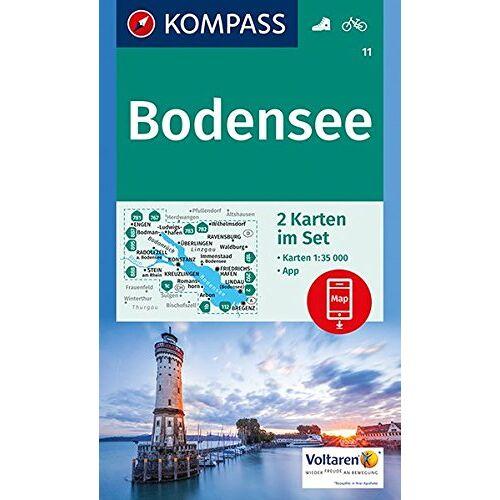 KOMPASS-Karten GmbH - Bodensee: 2 Wanderkarten 1:35000 im Set inklusive Karte zur offline Verwendung in der KOMPASS-App. Fahrradfahren. (KOMPASS-Wanderkarten) - Preis vom 01.12.2019 05:56:03 h