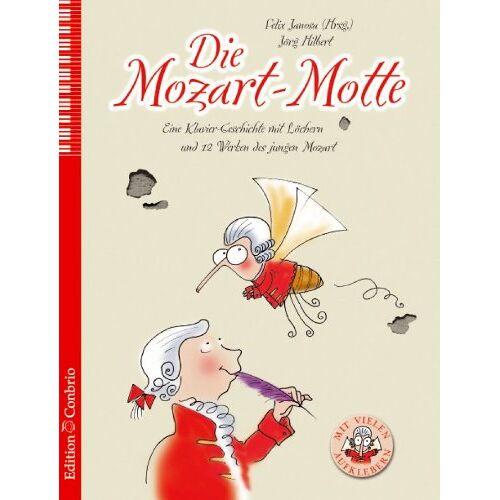 Jörg Hilbert - Die Mozart-Motte: Eine Klavier-Geschichte mit Löchern und 12 Werken des jungen Mozart - Preis vom 20.10.2020 04:55:35 h