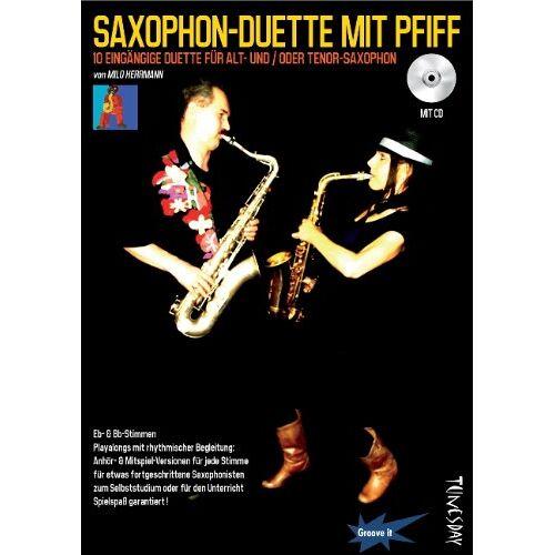 Milo Herrmann - Saxophon-Duette mit Pfiff (mit CD) für Alt- & Tenor-Sax - Noten + Playalongs für Saxophonisten (Voll- & Halb-Playbacks) - Preis vom 05.03.2021 05:56:49 h