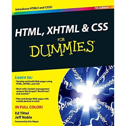 Ed Tittel - HTML, XHTML and CSS For Dummies - Preis vom 22.02.2021 05:57:04 h