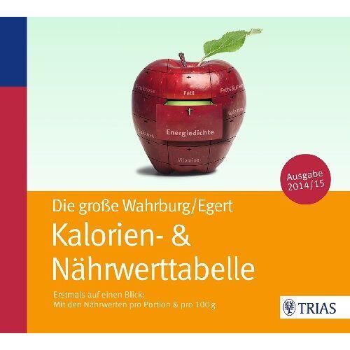 Ursel Wahrburg - Die große Wahrburg/Egert Kalorien-&-Nährwerttabelle: Erstmals auf einen Blick: Mit den Nährwerten pro Portion & pro 100 g - Preis vom 06.05.2021 04:54:26 h