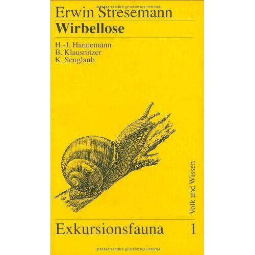 Erwin Stresemann - Wirbellose (ohne Insekten), Bd 1 - Preis vom 06.09.2020 04:54:28 h