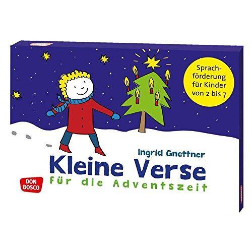 Ingrid Gnettner - Kleine Verse für die Adventszeit: Sprachförderung für Kinder von 2 bis 7 (Don Bosco Reimkarten zur Sprachförderung) - Preis vom 08.05.2021 04:52:27 h