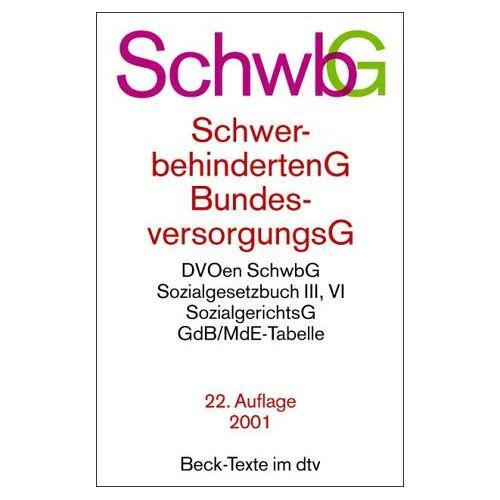 - Schwerbehindertengesetz ( SchwbG) / Bundesversorgungsgesetz ( BVG) - Preis vom 11.04.2021 04:47:53 h