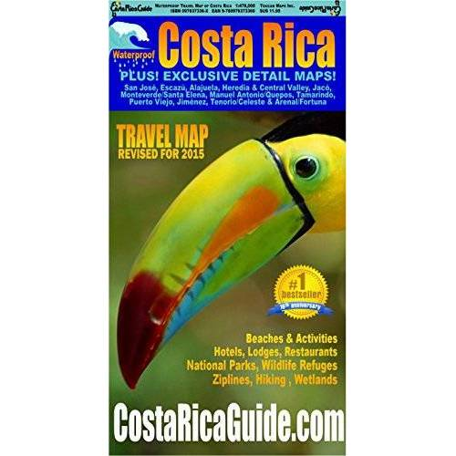 Ray Krueger Koplin;Suzanne Krueger Koplin - Waterproof Travel Map Of Costa Rica by Ray Krueger Koplin (2016-01-20) - Preis vom 03.09.2020 04:54:11 h
