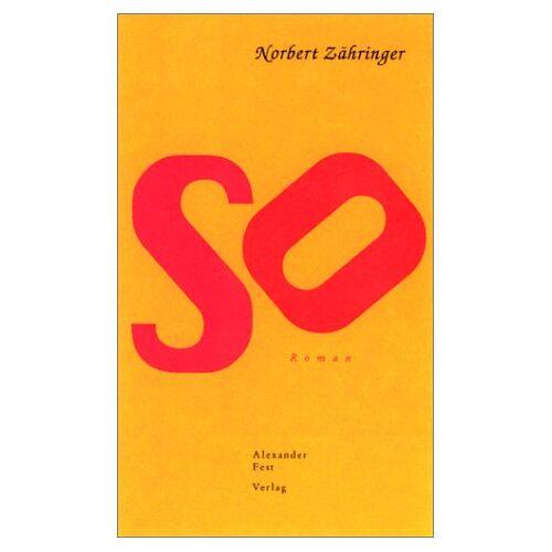 Norbert Zähringer - So - Preis vom 05.09.2020 04:49:05 h