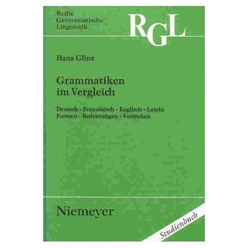 Hans Glinz - Grammatiken im Vergleich - Preis vom 05.05.2021 04:54:13 h