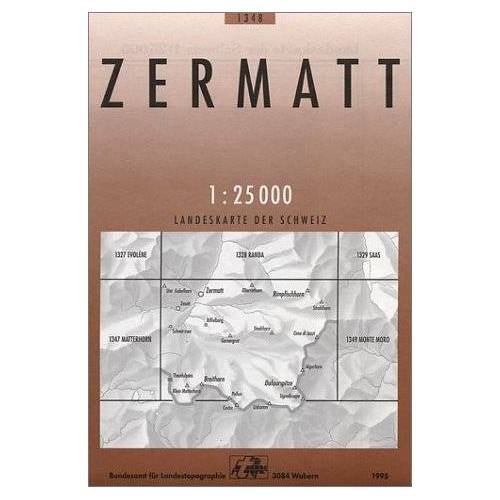Bundesamt - Swisstopo 1 : 25 000 Zermatt (Landeskarte Der Schweiz) - Preis vom 15.05.2021 04:43:31 h