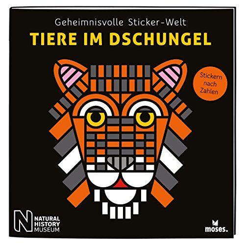 Kessel, Carola von - Geheimnisvolle Sticker-Welt: Tiere im Dschungel   Stickern nach Zahlen   Ab 6 Jahren (Geheimnisvolle Sticker-Welten / Stickern nach Zahlen) - Preis vom 21.10.2020 04:49:09 h