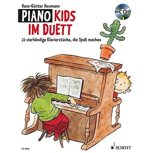Hans-Günter Heumann - Piano Kids im Duett: 22 vierhändige Klavierstücke, die Spaß machen. Klavier 4-händig. Ausgabe mit CD. - Preis vom 20.10.2020 04:55:35 h
