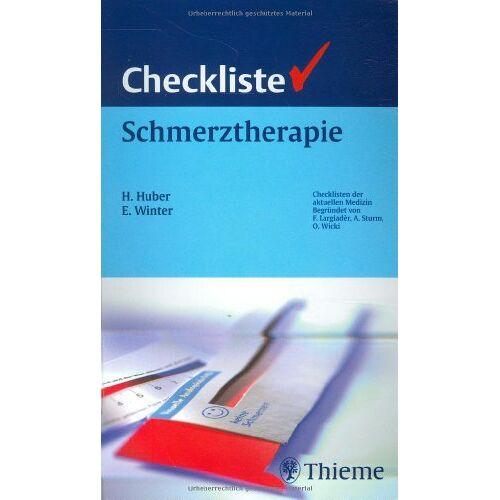 Horst Huber - Checkliste Schmerztherapie - Preis vom 11.05.2021 04:49:30 h