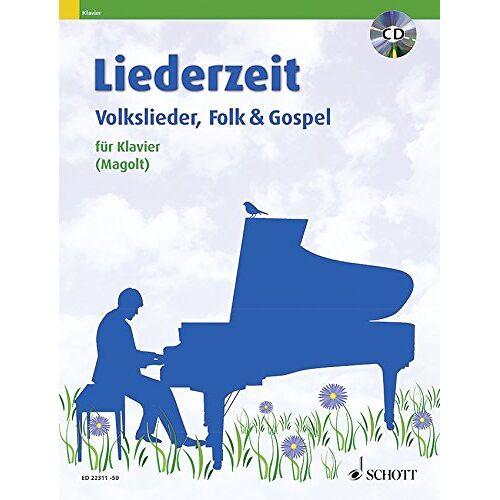 Marianne Magolt - Liederzeit: Volkslieder, Folk & Gospel. Klavier. Ausgabe mit CD. - Preis vom 20.10.2020 04:55:35 h