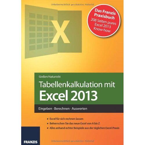 Saskia Gießen - Tabellenkalkulation mit Excel 2013 - Preis vom 15.05.2021 04:43:31 h