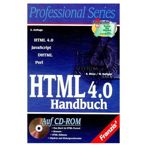 Stefan Münz - HTML 4.0 Handbuch. HTML, JavaScript, DHTML, Perl - Preis vom 22.02.2021 05:57:04 h