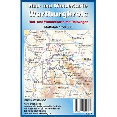 - Wartburgkreis: Rad- und Wanderkarte 1:50 000 - Preis vom 16.05.2021 04:43:40 h