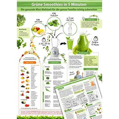 www.grüne-smoothies-shop.de, Grüne Smoothies - - Grüne Smoothies in 5 Minuten (2016) -: Ideen und Anregungen um die gesunde Mini-Mahlzeit für die ganze Familie richtig zuzubereiten - Preis vom 28.03.2020 05:56:53 h