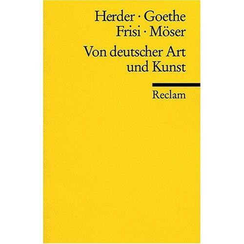 Herder, Johann G - Von deutscher Art und Kunst - Preis vom 03.12.2020 05:57:36 h