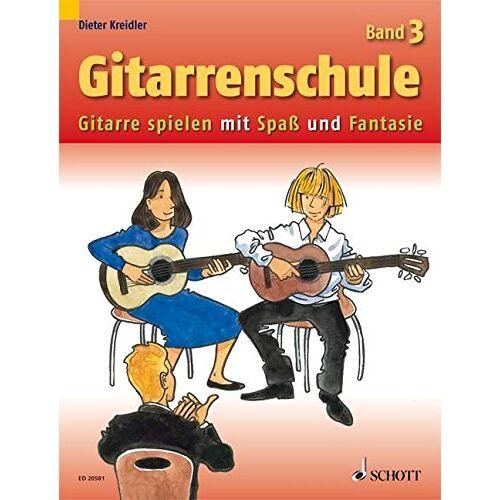 Dieter Kreidler - Gitarrenschule: Gitarre spielen mit Spaß und Fantasie - Neufassung. Band 3. Gitarre. (Kreidler Gitarrenschule) - Preis vom 25.02.2020 06:03:23 h
