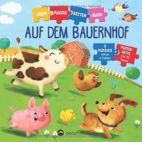 Kessel, Carola von - Puzzlekettenbuch Auf dem Bauernhof: 5 Puzzles mit je 6 Teilen - Preis vom 06.05.2021 04:54:26 h