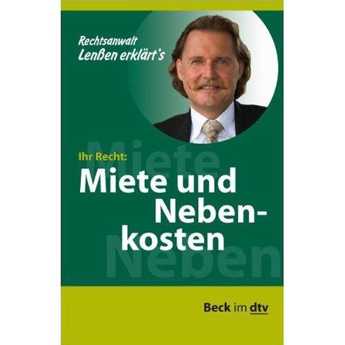 Ingo Lenßen - Lenßen erklärt's Ihr Recht: Miete und Nebenkosten - Preis vom 15.05.2021 04:43:31 h