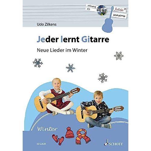 Udo Zilkens - Jeder lernt Gitarre - Neue Lieder im Winter: JelGi-Liederbuch für allgemein bildende Schulen. Gitarre. Lehrbuch mit CD. - Preis vom 22.02.2020 06:00:29 h