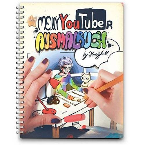 Honigball - Mein YouTuber Ausmalbuch: by Honigball - Preis vom 12.12.2019 05:56:41 h
