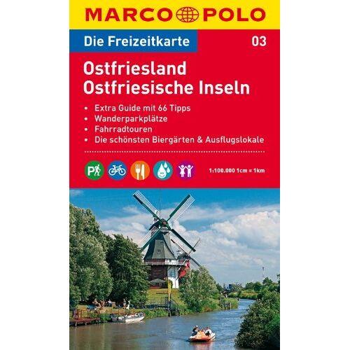 - MARCO POLO Freizeitkarte Ostfriesland, Ostfriesische Inseln 1:100.000 - Preis vom 13.05.2021 04:51:36 h