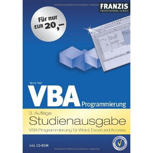 Bernd Held - VBA Programmierung. Studienausgabe. VBA Programmierung für Word, Excel und Access - Preis vom 25.05.2020 05:02:06 h