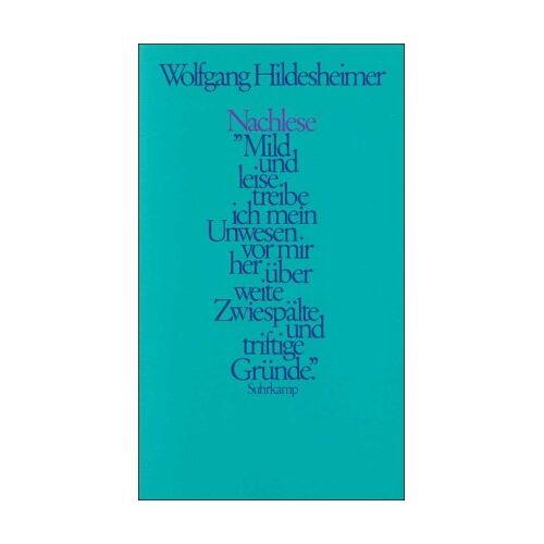 Wolfgang Hildesheimer - Nachlese - Preis vom 05.03.2021 05:56:49 h