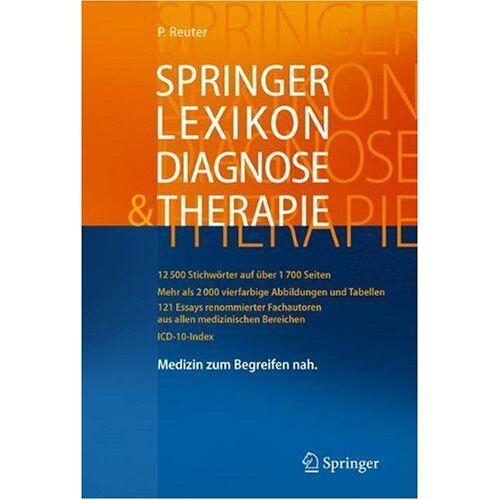 Peter Reuter - Springer Lexikon Diagnose & Therapie - Preis vom 22.10.2020 04:52:23 h