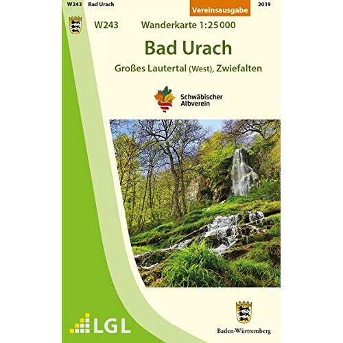 Schwäbischer Albverein e.V. - Bad Urach - Großes Lautertal (West), Zwiefalten: Wanderkarte 1:25.000 (Wanderkarten 1:25 000) - Preis vom 24.02.2021 06:00:20 h